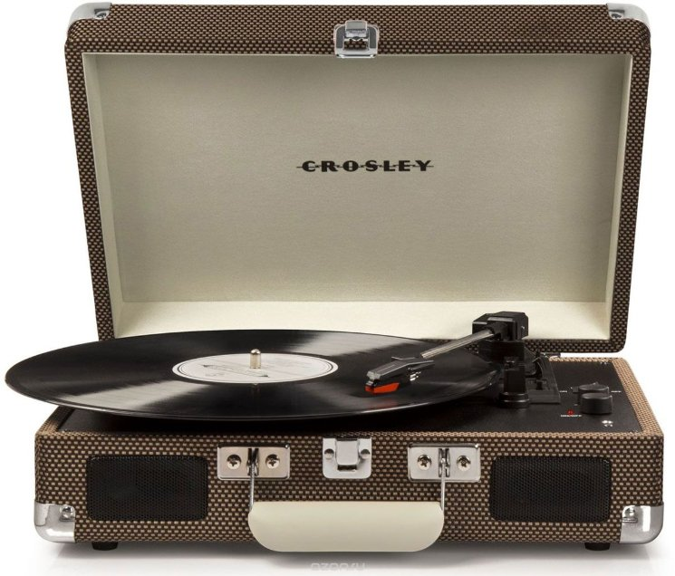 Проигрыватель CROSLEY CR8005D-TW CRUISER DELUXE Tweed c Bluetooth